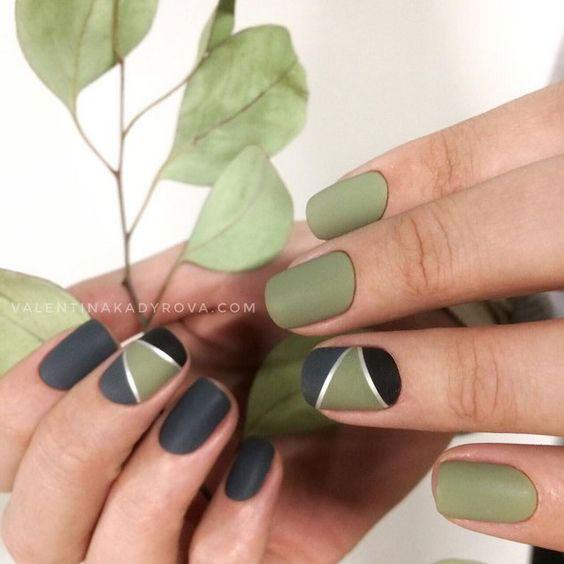 маникюр на короткие ногти осень 2021 года 3